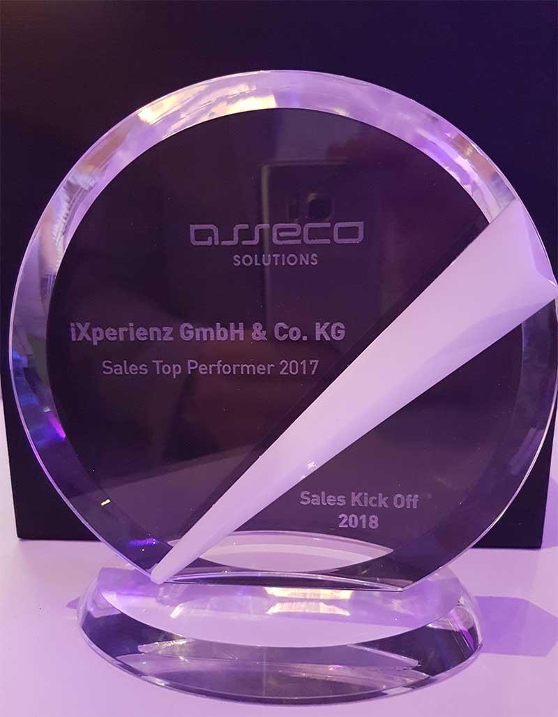 Gold-Partner von Asseco: iXperienz ereicht Platz 3